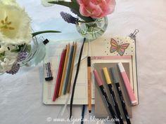 Edgarten - Gartenblog: 📘  Bullet Journal - Mai mit Schmetterlingen - Tag 47 Bullet Journal, Mai, Homeschooling, February 22, Pens, Homeschool