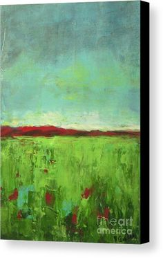 Summer Green Canvas Print / Canvas Art by Vesna Antic