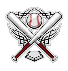 softball tattoos clipart tribal baseball home plate with crossed rh pinterest com Baseball Bat Outline Vector O Baseball Bat