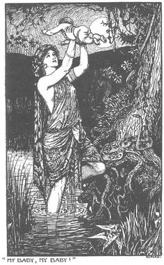 The One-Handed Girl - The Lilac Fairy Book by Andrew Lang, 1910