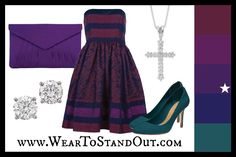 Dress yourself in Pantone's Acai using an analogous color palette.