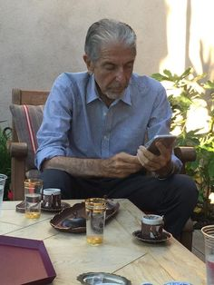 Leonard Cohen, taken by Kezban Ozcan and shared on twitter by Thomas Gerbet.