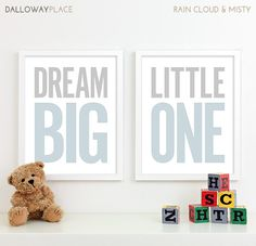 Baby Boy Nursery Art Prints Boy Nursery Decor by DallowayPlace, $30.00