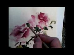 Yearning for the Blue Lady Rose - a  Plein Air Painting with Sumi and Watercolor on Rice Paper