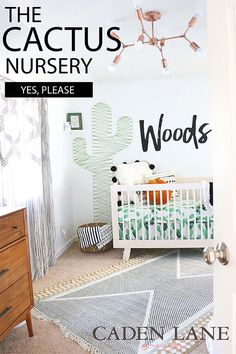 This cactus nursery is EXACTLY what I would want for a baby boy's room!