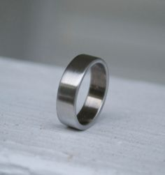Shotgun Metal Ring / Classic Wedding Band / Mens and Womens Wedding Ring / Shotgun Ring