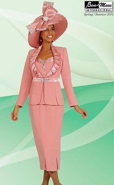 Ben Marc Embellished Womens Church Suit 4503