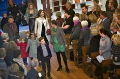 15 December 2013 Crown Prince Frederik and Crown Princess Mary attended the christmas concert at Esajas Church with their children .