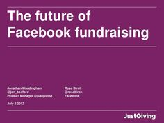 The Future of Facebook fundraising: presented by Jonathan Waddingham at the Institute of Fundraising National Convention, July 2012.