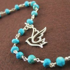 Cute+and+beautiful.%0A+%0A+Sterling+silver+dove+hangs+on+the+chain+made+with+popular+blue+turquoise+gemstone.+Beautiful+birthday+gift+too!%0A%0AYou+will+receive+4+bracelets.%0A+%0A+Length+of+Bracelet:+appx.+6.5+i