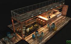 Container Bar, Shipping Container Cafe, Container Coffee Shop, Shipping Container Buildings, Container Design, Shipping Containers, Container Architecture, Kiosk Design, Cafe Design