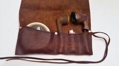 Medium Leather Pipe & Tobacco Pouch di CharredEmbersandOak su Etsy
