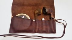 Medium Leather Pipe & Tobacco Pouch di CharredEmbersandOak su Etsy