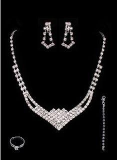 Bijoux (Gorgeous Alloy With Rhinestones Wedding Bridal Jewelry Set 011005491)