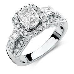 Michael Hill 1 1/2 CARAT TW DIAMOND RING (top)
