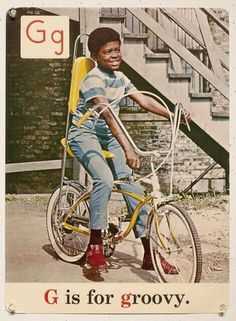 retrowar:  soundsof71:  I had this bike and these shoes in the early 70s. Unlike this young man, I was most decidedly not groovy. Groovy!