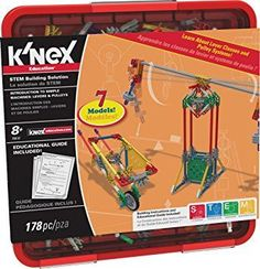 K'NEX Education - Intro to Simple Machines: Levers and Pulleys Set - 178 Pieces - For Grades - Construction Education Toy Let your children experience endless building possibilities with K'NEX. Block And Tackle, Science Kits, Easy Science, Science Experiments, Simple Machines, Hands On Learning, Learning Toys, Problem Solving Skills, Toys Online