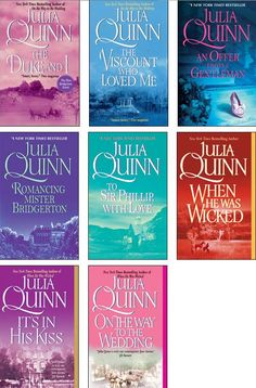 Bridgertons series by Julia Quinn!! Love these books so funny and you can't put them down.