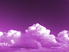 Clouds In Purple Sky