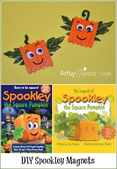 DIY Spookley the Square Pumpkin Craft Magnets Read the book The legend of Spookley the Square Pumpkin or watch the cute movie. Then make Spookley the Square Pumpkin Craft Magnets!