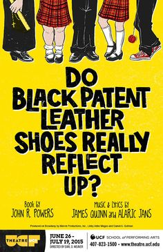 "My poster for Theatre UCF's 2015 production of ""Do Patent Leather Shoes Really Reflect Up?"" (based on a painting by someone involved in the production (wish I knew the name))."