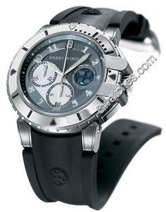 66340209bc9 This Harry Winston Project Z2 Diver Mens Platinum Bezel Silver Dial  Automatic 410 MCA44ZC.A watch