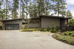 shallow roof : shed roof :: Fred Bassetti Mercer Island Midcentury Modern Lists For $2.45M - Curbed Seattle