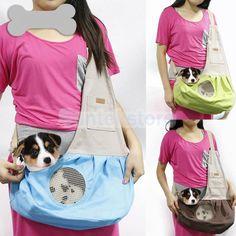 Lona De Cachorro de Estimação Gato portador de ombro única Bolsa Bolsa Sling Mochila outdoor