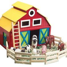 Barn and Animals playset -- This is an Amazon Affiliate link. Click image for more details.