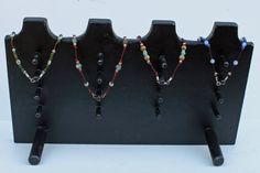 Multiple Necklace Display 4 necklace displays by RusticLodgeDecor