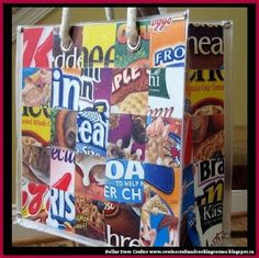 Dollar Store Crafter: Make This Cute Cereal Box Bag
