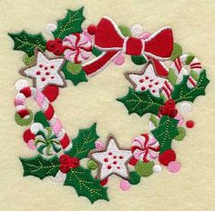 Embroidery Library - Machine Embroidery Designs Inspired Project Page Best Embroidery Machine, Learn Embroidery, Machine Embroidery Designs, Hand Embroidery, Christmas Applique, Christmas Sewing, Christmas Embroidery, Looks Vintage, Sweet Treats