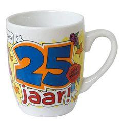 Cartoon mok Hoera 25 jaar!