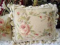 Gorgeous Wool Needlepoint Cushion Cover Pillow Sham 258 | eBay.....LUV!!!!!