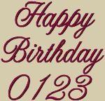 Happy Birthday Embroidery Font by 8Clawsandapaw.com
