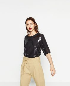 SEQUINNED TOP-View all-TOPS-WOMAN | ZARA United States