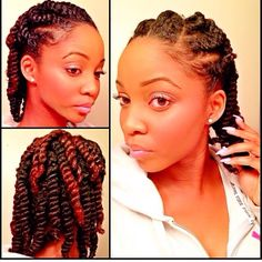 I wish my hair was thick enough to do that...--Simple protective style ❤️