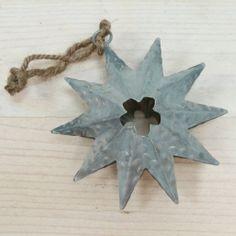 Adorno Navidad, estrella zinc 3,90€ www.holamama.es