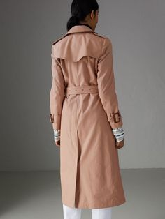 Tropical Gabardine Trench Coat in Pink Apricot - Women | Burberry Australia - cell image 2