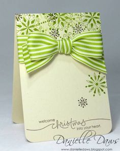 Snow Swirled Set from Stampin'Up!  It is not too early to get a few Christmas cards done each month, so when Christmas arrives you are ready to mail your cards!!!