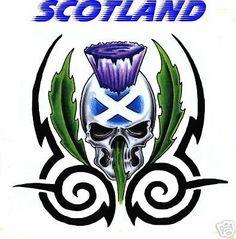 Scotland T-shirt - SCOTTISH SKULL & THISTLE DESIGN