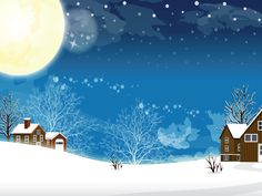 Full moon on a cold winter night. Christmas holiday Wallpapers. Christmas, Easter, Valentine's Day and many other holidays Wallpapers. HD Wallpaper Download