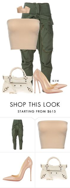 """Untitled #3306"" by kimberlythestylist ❤ liked on Polyvore featuring Faith Connexion, Christian Louboutin and Balenciaga"