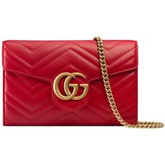 Gucci Gg Marmont Matelassé Mini Bag ($1,300) ❤ liked on Polyvore featuring bags, handbags, red, chain strap purse, chevron purses, gucci purse, red purse and mini leather handbags