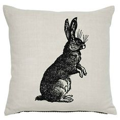 cushion, rabbit, asda