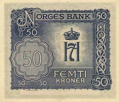 Norwegian Krone | Norwegian krone issued in 1944