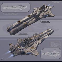 Heavy Cruiser Sieger by *KaranaK on deviantART