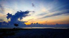 had a really good morning ☉  @Bangka, Indonesia  #bangka #Indonesia #sunrise  #sky #cloud #sun #blue #orange #beach