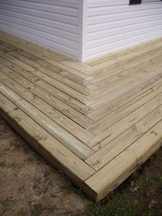 Building A Deck 549861435754179017 - Herringbone pattern at corner of deck Source by delfinevretalin Deck Patterns, Gazebo On Deck, Deck Makeover, House Cladding, Timber Deck, Diy Deck, Home Landscaping, Building A Deck, Home Design Plans