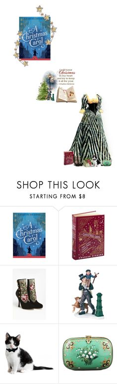"""""""A Christmas Carol - Charles Dickens"""" by fashionqueen76 ❤ liked on Polyvore featuring Dolce&Gabbana, Department 56, Alexis Bittar, books and bookchara"""